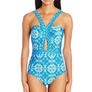 Laundry by Shelli Segal One Piece Swimsuit Large